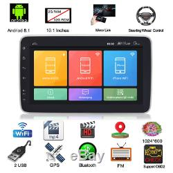 10.1in 2Din Android 8.1 Touch Screen 1G+16G Quad-core GPS Wifi 4G Car MP5 Player