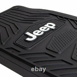 10pc JEEP Car Truck Suv All Weather Floor Mats Seat Covers Steering Wheel Cover