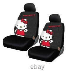 11pc Sanrio Hello Kitty Core Car Floor Mats Steering Wheel Cover & Seat Covers