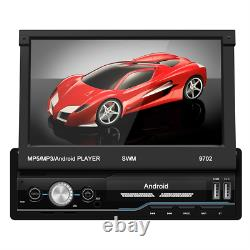 1Din 7 Android 8.1 Retractable Car GPS WiFi Radio Auto Stereo Multimedia Player