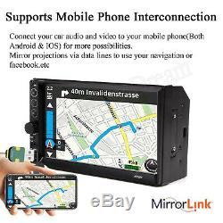 1x 7inch 2DIN Car MP5 Player Bluetooth Touch Screen Stereo Radio HD SD 2019 New