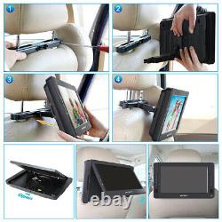 2 x 10.5 HDMI Dual Screen Car Seat Headrest DVD Player Monitor USB with Battery