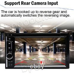 2DIN DVD/CD/LCD Player Car Stereo Radio TV + Camera For Audi A3 A4 A5 A7 A8 Q7