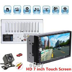 2Din 7 Touch Screen 1080P FM Radio Car Video Audio Stereo MP5 Player+ HD Camera