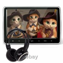 2Pcs 10.1 Car Headrest DVD Player Plug-and-Play Rear-Seat Entertainment System