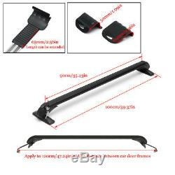 2pc Top Roof Cargo Rack Cross Bars Luggage Carrier Gasket Anti-theft For Car SUV