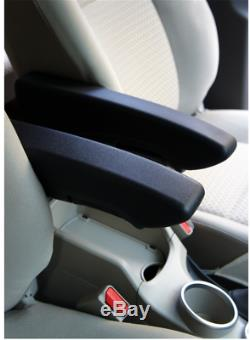 2x Foldable Car Seat Armrest Left+Right Arm Bracket Foam Black with Clamp fittings