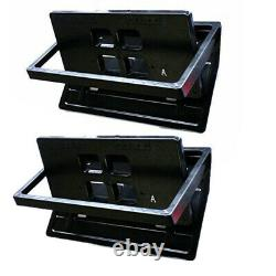 2x Hidden Flip Electric USA Car License Plate Frame Turn Over + Wireless Remote