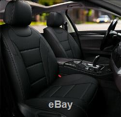 360' Full Black Leather Car Seat Cover fits Toyota Camry Corolla RAV4 Aurion