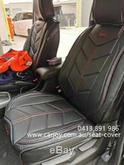 360' red Black Leather Car Seat Cover for Toyota Camry Corolla Hilux Rav4 Kluger