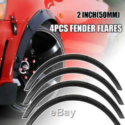 4pcs Fender Flares Flexible Car Over Wide Body Kit 2 Wheel Arches Durable ABS