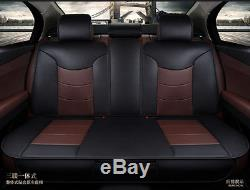 5-Seats Car Seat Cover Front+Rear Microfiber Leather Cushion withPillow All Season