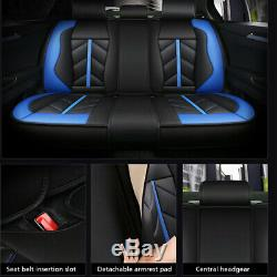 5-Seats Luxury Leather Car Seat Cover Cushions Front+Rear All Weather Full Set
