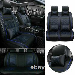 5-Sit PU Leather Car Seat Covers Cushion Front+Rear Car Accessories Interior Set