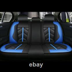 5Sit PU Leather Car Seat Cover Front&Rear Cushion Interior Accessories Universal