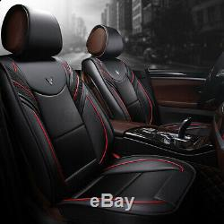 6D Full Surrounded Leather 5 Seat Car Seat Cover Front & Rear Cushion Protection