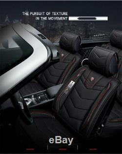 6D Luxury PU Leather Car Seat Covers for Mercedes Benz W203 W211 C S CLS CLK SLK