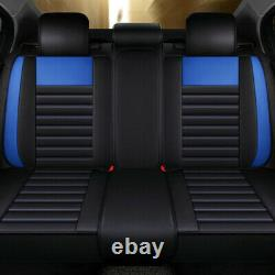 6D New Deluxe Car Seat Cover 5-Sit Cushion Universal Car Interior Accessories US