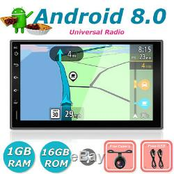7 Android 8.0 Car Radio Navigation Stereo Head unit 2DIN In Dash USB AUX DAB+BT
