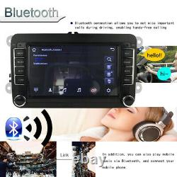 7'' Double Din Car Radio GPS Android 8.1 for VWithSeat +CAM iOS Mirror Link Wifi