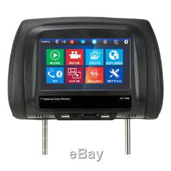 7 Touch Screen Car Headrest Monitor Rear Seat MP5 Player USB SD FM BT with Remote