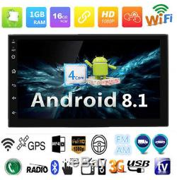 7inch Android 8.1 Double 2Din Car Stereo Radio GPS Wifi OBD Mirror Link BT 3G/4G