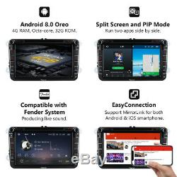 8 for VW Golf Mk5 Mk6 Car Radio Stereo DVD GPS 4G WIFI Android 8.0 8Core l DVR