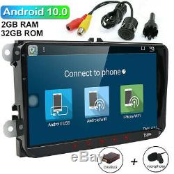 9 Android 10 2Din Car Radio Stereo NO DVD Player GPS Multimedia Wifi BT for VW