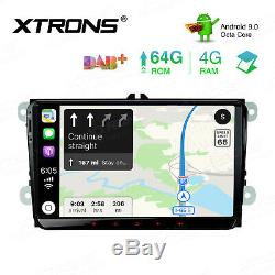 9 Android 9.0 Octa-Core Car Stereo 4G+64GB USB GPS Radio For VW PASSAT GOLF EOS