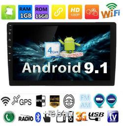 9'' Double 2 DIN Android 9.1 Car Stereo WIFI FM Radio GPS Navigation Head Unit