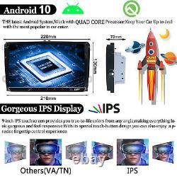 9Android 10 32GB 2GB Car GPS Navigation Stereo Radio CarPlay Double 2DIN For VW