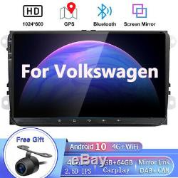 9Car Stereo Radio For VW Jetta Passat Golf GPS HeadUnit Navigation Android 10.0