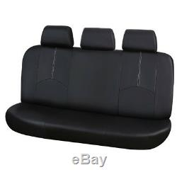 9PC Luxury PU Leather Car Seat Cover Front/Rea Seat Cushion