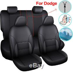 9PCS Universal Car Seat Cover Set Leather Fit for Dodge Charger Durango Journey