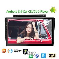 Android 8.0 10.1 Split Tablet DVD Radio 2DIN Stereo Unit Car GPS Wifi Bluetooth