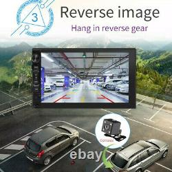 Android 8.1 7 Double 2 DIN Car Radio GPS Player WIFI BT Navi With Backup Camera
