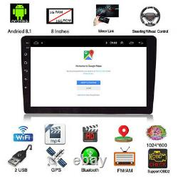 Android 8.1 8 inch Single 1Din Car MP5 Player Touch Screen Stereo Radio GPS