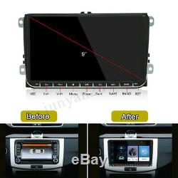 Android 8.1 Car Stereo GPS Navigation Radio Player 2Din WIFI 9 Inch For VW Skoda