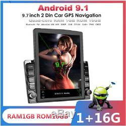 Android 9.1 HD 9.7inch 2DIN Car Stereo Radio Player WIFI GPS Mirror Link OBD
