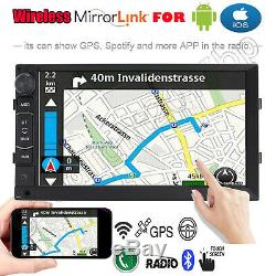Android GPS Double 2 Din 7 Car Stereo With Backup Camera Touch Screen FM Radio