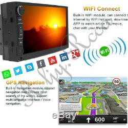 Android Quad Core 7 Double 2DIN GPS WiFi Car Stereo MP5 Radio Player & Camera