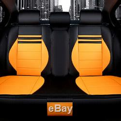 Auto Car Seat Cover Full Set PU Leather Cushion Universal Front Rear Accessories