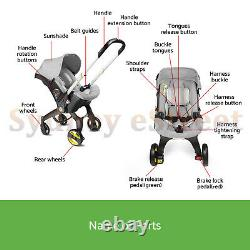Baby Infant Car Seat Stroller Combos 4 in 1 for newborn Light Weight for Travel