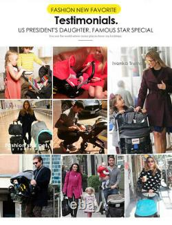 Baby Stroller 4 In 1 with Car Seat Baby Bassinet Folding Baby Carriage Prams US
