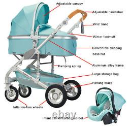 Baby Stroller Set 3 in 1 Newborn Infant Bassinet Travel System with Car Seat