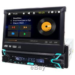 Backup Camera+ GPS Single 1Din Car Stereo Radio CD DVD Player Bluetooth with Map