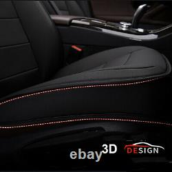 Black Car SUV 5-Seat PU Leather Seat Covers For Nissan Altima Sentra Rogue Kicks