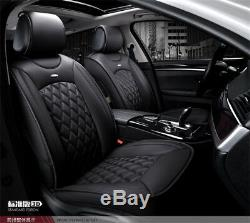 Black PU Leather 3D Full Set Car Seat Cushion Protector Seat Cover Accessories