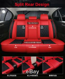 Black/Red Car Seat Covers withPillows Full Set Interior 5 Seat Car Accessories