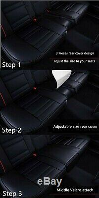 Black Red Leather Car Seat Cover for Subaru Impreza Forester Outback Liberty WRX